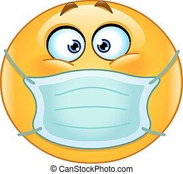 emoticon, medicinsk, maskera