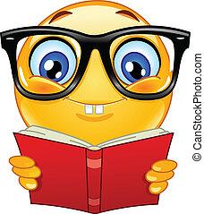 emoticon, nerd