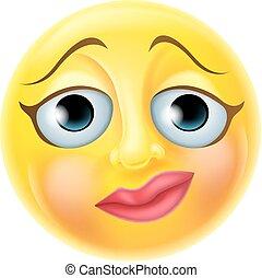 emoticon, nerveux, emoji
