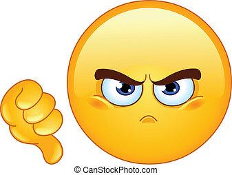 emoticon, nie lubić