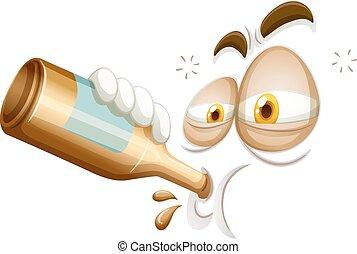 Emoticon of a drunkard illustration