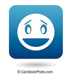 emoticon, ouvrez bouche, surpris, icône