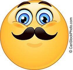 emoticon, overskæg