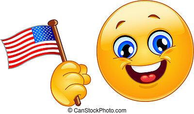 emoticon, patriote