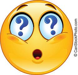 emoticon, pergunta