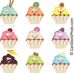 emoticon, petits gâteaux