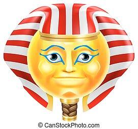 emoticon, pharaon, emoji