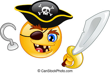 emoticon, pirate
