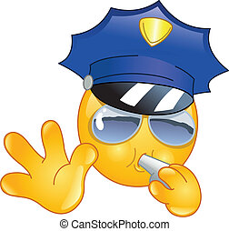 emoticon, policial