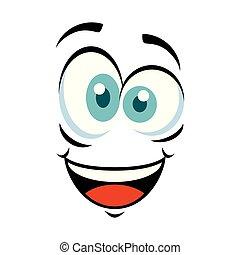 emoticon, pomylony, twarz, ikona