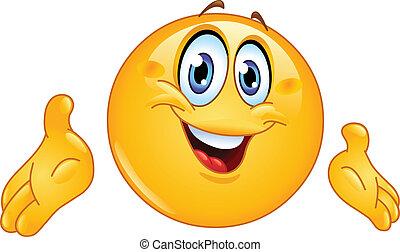 emoticon, presenterande