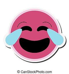 emoticon, rire, icône
