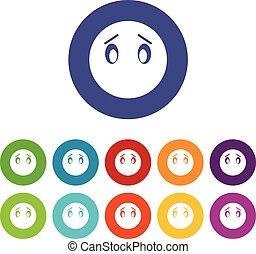 Emoticon set icons