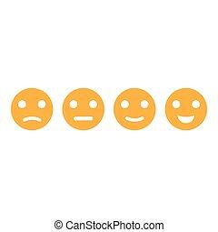 emoticon, set, vettore, illustrazione, icona