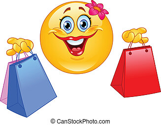 emoticon, shoppen