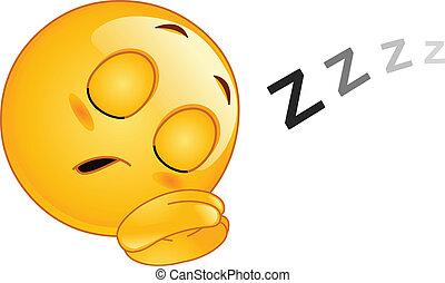 emoticon, slapende