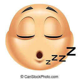Emoticon sleeping