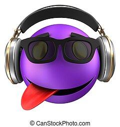 emoticon, smile, 3, violet