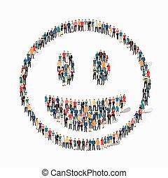 emoticon, smiley, 人々, アイコン
