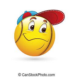 emoticon, smiley, 野球, ベクトル