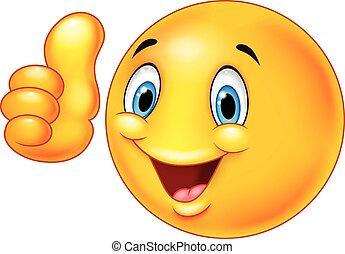 emoticon, smiley, caricatura, givin, feliz