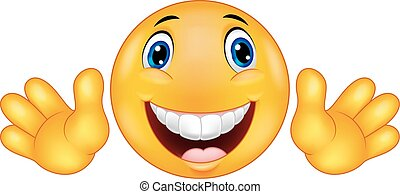 emoticon, smiley, cartone animato, felice