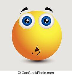 emoticon, smiley, demander, emoji