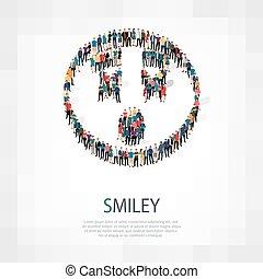 emoticon, smiley, emberek, ikon