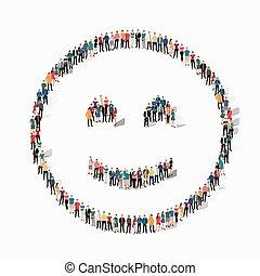 emoticon, smiley, persone, icona