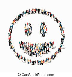 emoticon, smiley, persone, icona