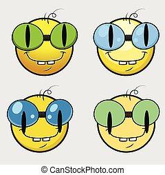 emoticon, smiley, rat bibliothèque, emoji