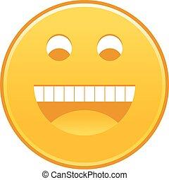 emoticon, smiley, type caractère jaune, gai, sourire heureux