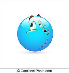 emoticon, smiley, vector, het negeren