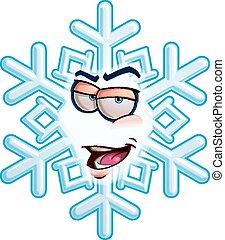 emoticon, sono, -, fiocco di neve, romeo