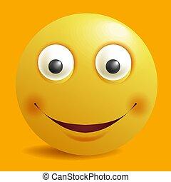 emoticon, sorrisos, apartamento, smiley, amarela, vetorial, desenho, construtor, sorrizo, emoji, caricatura, ícone