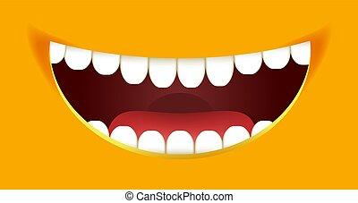 emoticon, sorrisos, smiley, amarela, vetorial, desenho, sorrizo, construtor, boca, caricatura, emoji