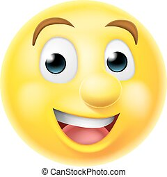 emoticon, sourire heureux, emoji