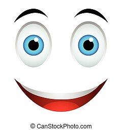 emoticon, sourire, signe