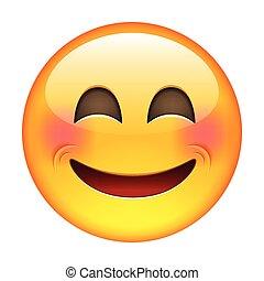 emoticon, sourire