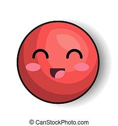 emoticon style kawaii isolated icon
