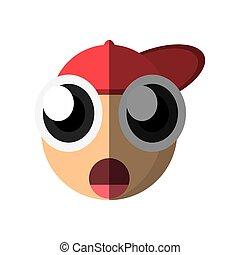 emoticon surprise cartoon design