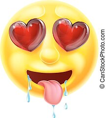 emoticon, szív, szemek, emoji