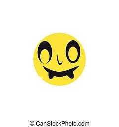 Emoticon template face