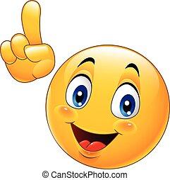 emoticon, tillverkning, smiley, tecknad film, peka