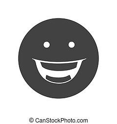 emoticon, visage heureux