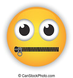 emoticon with a mouth - Cartoon emoticon with a mouth...