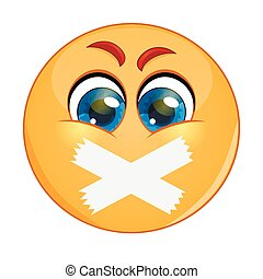 Emoticon with adhesive bandages