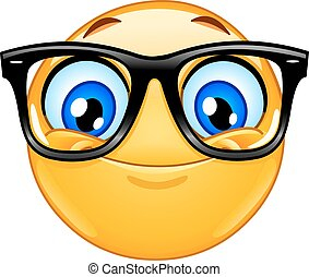 Emoticon with eyeglasses