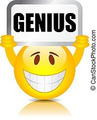 Emoticon with genius sign