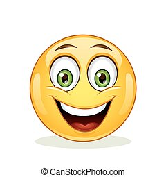 Emoticon with happy face.